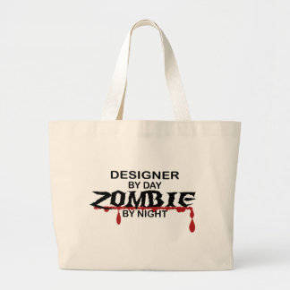 Designer Zombie Large Tote Bag