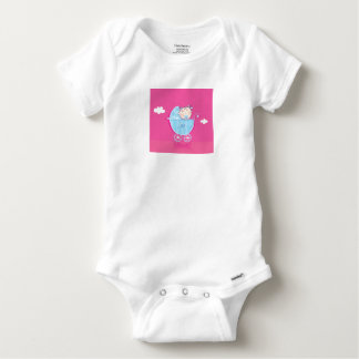 Designers baby Tshirt with Baby drawing PINK