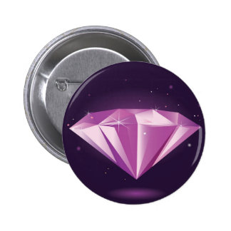 Designers badget : purple Diamond 2 Inch Round Button