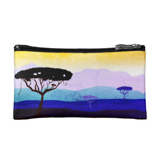 Designers bag with Africa trees Makeup Bag