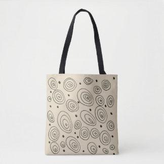 Designers bag with fashion circles