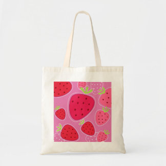 Designers bag with Strawberries / Red