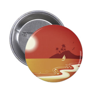 Designers beach button : red
