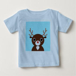 Designers blue tshirt with brown Reindeer
