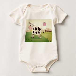 Designers body suit with Cow Baby Bodysuit