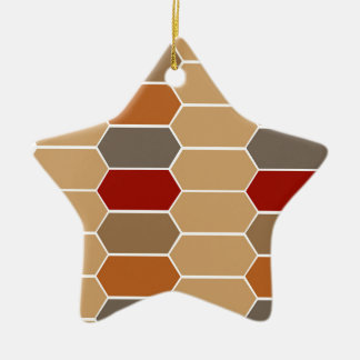 DESIGNERS BROWN VINTAGE MOROCCO CERAMIC STAR ORNAMENT
