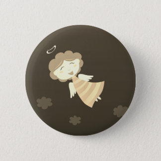 Designers budget with Little girl 2 Inch Round Button