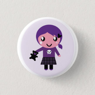 Designers button with Emo girl