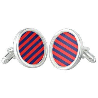 Designers cufflinks : blue and red design