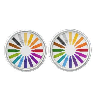 Designers cufflinks with Pastels