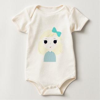 Designers cute blond Manga Baby Bodysuit