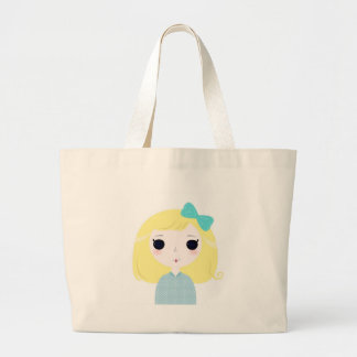 Designers cute blond Manga Large Tote Bag