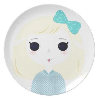 Designers cute blond Manga Plate