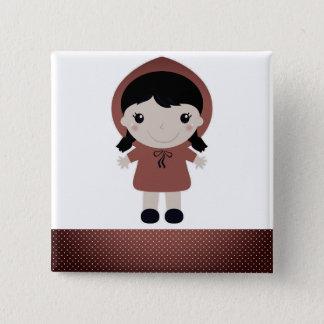 Designers cute Button with Red riding hood