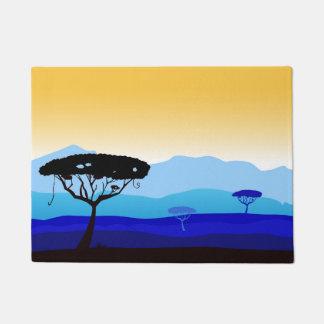Designers door mat : Africa