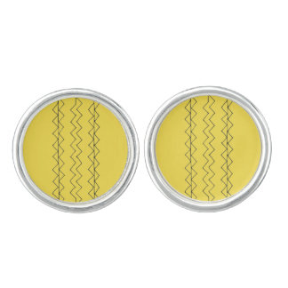 Designers earrings : Yellow Cufflinks