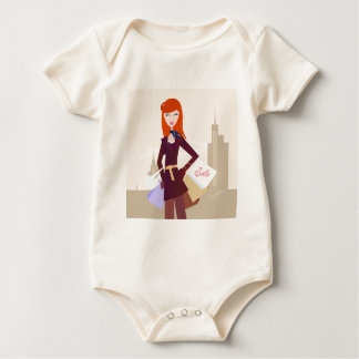 Designers edition : Shopping girl Baby Bodysuit