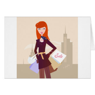 Designers edition : Shopping girl Card
