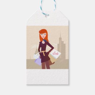 Designers edition : Shopping girl Gift Tags