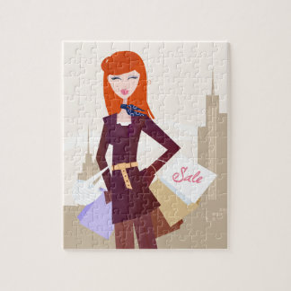 Designers edition : Shopping girl Jigsaw Puzzle