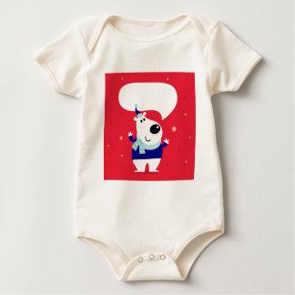 Designers edition with Arctic teddy Baby Bodysuit