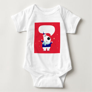 Designers edition with Arctic teddy Baby Bodysuit