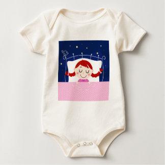 Designers edition with cute Sleeping girl Baby Bodysuit