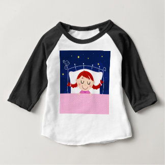 Designers edition with cute Sleeping girl Baby T-Shirt