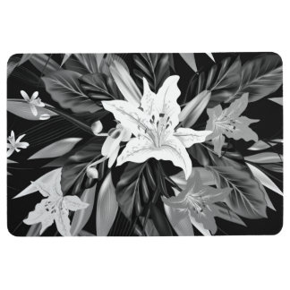 Designers floor mat with Flowers
