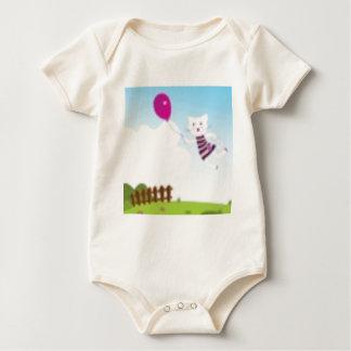Designers flying kitten with Balloon Baby Bodysuit