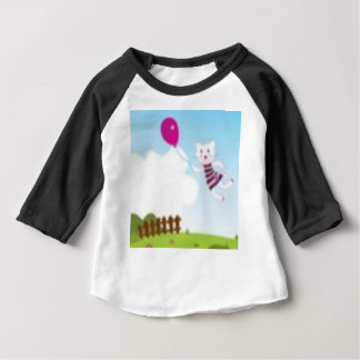 Designers flying kitten with Balloon Baby T-Shirt