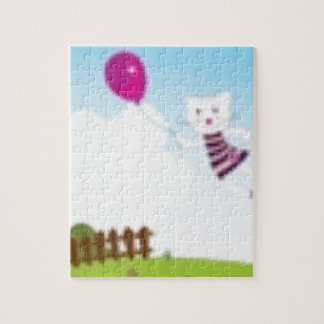 Designers flying kitten with Balloon Jigsaw Puzzle