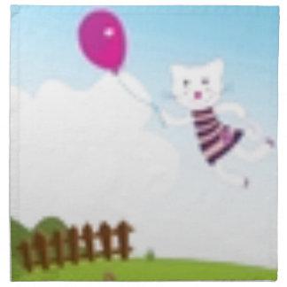 Designers flying kitten with Balloon Napkin