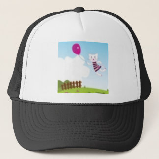 Designers flying kitten with Balloon Trucker Hat