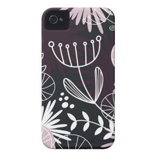 Designers folk black pattern Case-Mate iPhone 4 cases
