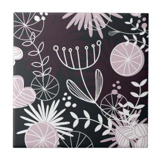 Designers folk black pattern tiles