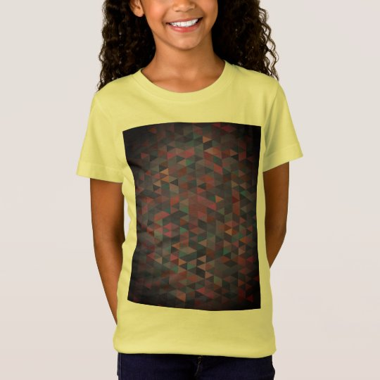 Designers girls tshirt with structured art