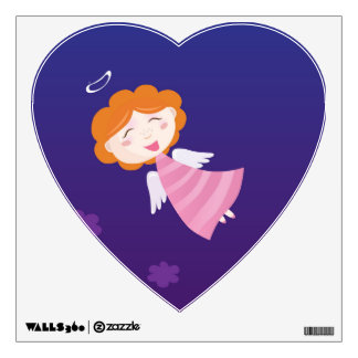 Designers Heart with little Angel Wall Decal