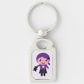 Designers Keychain with little cute Emo