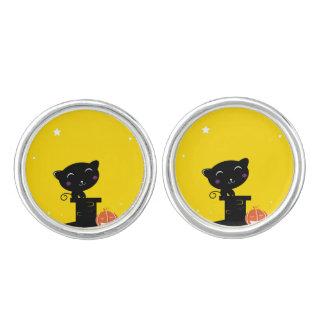Designers kids cufflinks : with black Cat