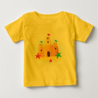 Designers kids t-shirt yellow : Sand castle