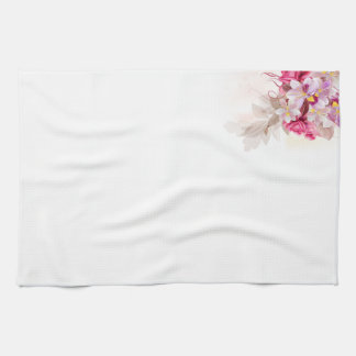 Designers kitchen towel with Flowers