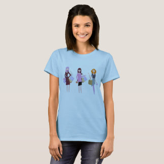 Designers ladies blue tshirt with Model girls