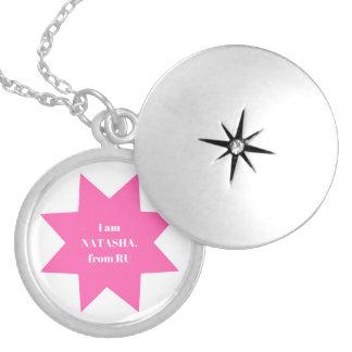 Designers ladies mirror / NATASHA Edition Silver Plated Necklace