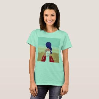 Designers ladies tshirt with Beach girl
