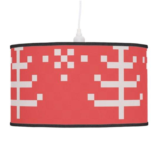 Designers lamp with Folk art