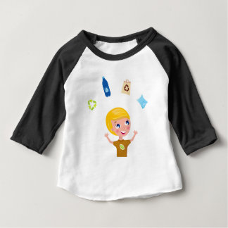 Designers little BIO School Boy with Items Baby T-Shirt