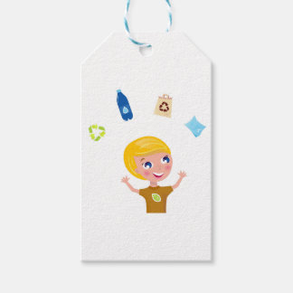Designers little BIO School Boy with Items Gift Tags
