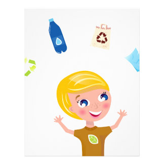 Designers little BIO School Boy with Items Letterhead