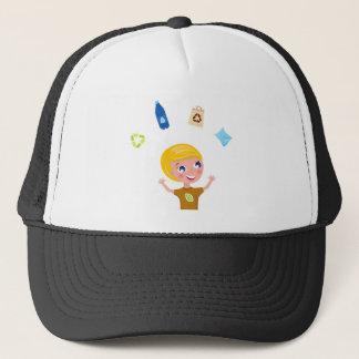 Designers little BIO School Boy with Items Trucker Hat